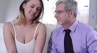 Busty young alma wins money to have sexy sex with a king