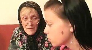 Cock crazed babe Granny White is fucked