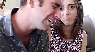 Pretty teen gets anal whipped by her geek boyfriend