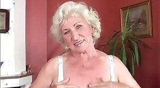 Granny Norma got her pussy getting fucked by hard