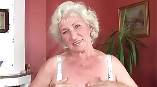 Granny Norma got her pussy finger fucked very hard