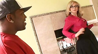 Bald Blonde Mature Fucked by huge Black Cock