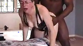 Lovely grandma from xxxvideo.best gets ass fucked by black friend