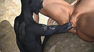 Cool cartoon babes seducing eachother in studio