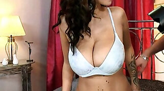 Busty Ballblubing Maid in Lingerie Followed By Her Sexy Master