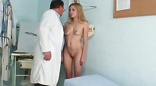 Blonde amateur with piercings toying her vagina