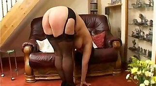 Hard spanking punishment for fat milf with big tits