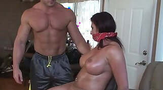 Cocksucking milf punished in the dark room an hours but she still