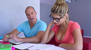 Sean licking down August Ames body starts with tits