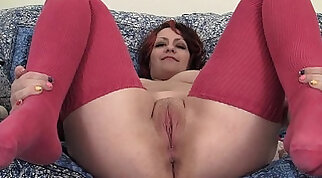 BBw blonde plump pussy with hot vibrator