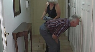 Perverted old parents fuck girl
