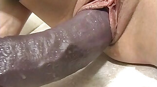Insertion porn focusing on hot holes getting stretched out