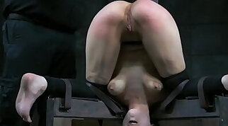 Horny Bambino Slut Shaking Her Tits To A Punish Point