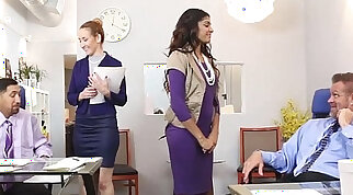 Digital massage of a maturing well in the arms of beautys secretary Barbara