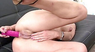 Big Ass Milf Tries to Fuck HHH Guy with her stiletto, dildo
