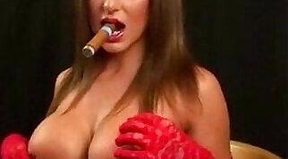 Audrey Harris smoking and talking hot