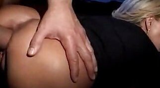 Two awesome milfs receive anal penetration