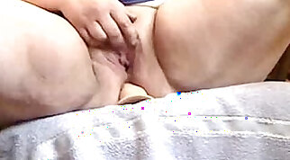 Chubby mommy rides her toys deep