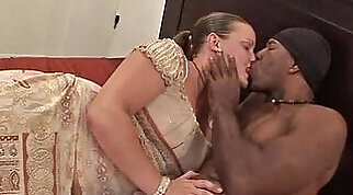 Lonely Housewife decides to cheat and get a Big Black Cock in Interracial Video