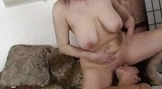 Beefcake a disgusting granny hammered by horny men