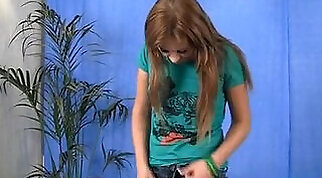 Big breasted young harlot is naked and enjoying massage